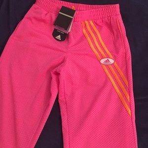 NWT Adidas girls mesh pants